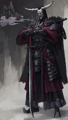 A good use magic master evil samurai Ninja Kunst, Arte Ninja, Ninja Art, Fantasy Character Design, Character Concept, Character Inspiration, Character Art, Concept Art, Fantasy Armor