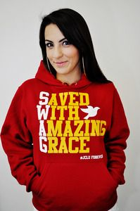 JCLU Red Hoodie  Saved  With  Amazing  Grace  S.W.A.G. <3
