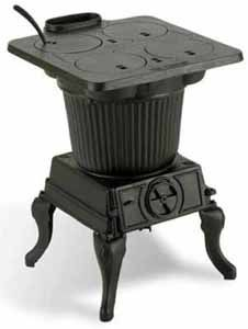 The Rancher® (by Vogelzang) is an all cast iron cooking range that will burn either wood or coal. Its large flare-top with four lift-out cook lids will facilitate several pots and pans at one time. This Rancher stove is ideal for cabins, hunting camps, lodges and other installations where range cooking is still appreciated and enjoyed. $500