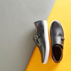 Double monk strap sneakers