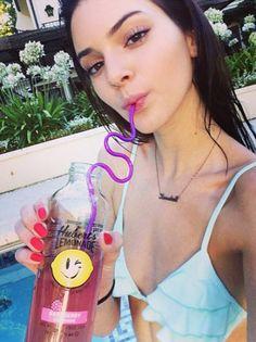 Kendall Jenner promotes Hubert's Lemonade