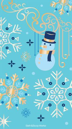 Looking for cool wallpapers and backgrounds for your mobile phone? Bath & Body Works has fashionable freebies right at your fingertips! Wallpaper Natal, New Year Wallpaper, Free Phone Wallpaper, Colorful Wallpaper, Cool Wallpaper, Snowman Wallpaper, Backgrounds For Your Phone, Cute Wallpapers, Iphone Wallpapers