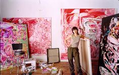 Cecily Brown in her studio; photo by Todd Eberle in Vogue, Oct. 1999