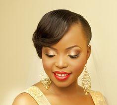 White, Black and Gold Wedding Make up. Wedding make up brown skin women
