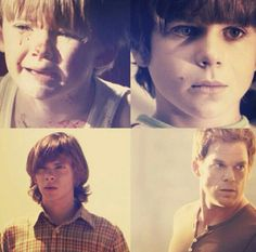 Dexter, from baby, to child, to teen, to adult.