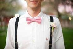 Loving the soft pink bow tie