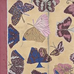 """Raoul Dufy, """"Butterfly model for textile design"""" Limited sophisticated colour palette movement"""