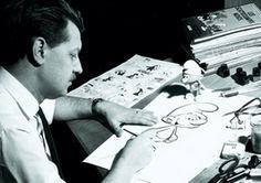 """My Father, Peyo"" - Papercutz-the Kids Graphic Novel Publisher Comic Book Artists, Comic Books, Popular Cartoons, Cartoon Characters, Fictional Characters, My Father, Comic Strips, Smurfs, Novels"