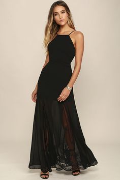 The Listen to the Rain Black Lace Maxi Dress is so lovely 50277c8b9e64