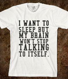 WANT TO SLEEP T-SHIRT from Glamfoxx Shirts