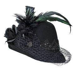Rollbarer Hut mittlere Größe mit braunem Band Hut Hüte Wollhut