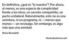 Mario Benedetti, algo más que una amistad