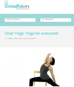 Chair Yoga On Pinterest Chair Yoga Yoga And Assisted Living