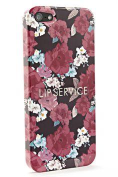LIP SERVICE(リップサービス)LIP SERVICE/スマホケース(花柄A)【iPhone5/iPhone4S/SC-06D/SC-03E/SH-09】