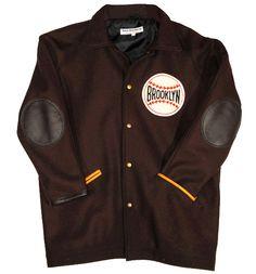 Brooklyn Brown Dodgers 1945 Authentic Fingertip Jacket