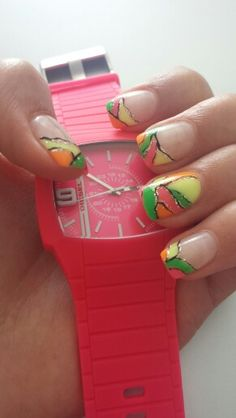 My neon nails :)
