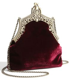 House of Harlow 1960 Velvet Pouch- This is where I store fancy magic potions I use for various spells throughout my magical day.