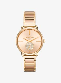 MICHAEL KORS Portia Pavé Two-Tone Watch. #michaelkors #