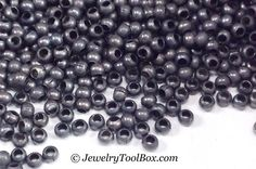 Metal Seed Beads, 15/0, Size 15, ANTIQUE ZINC Plated, 1x1.5mm, Brass Spacers, Made in the USA, Lead Free, Lot Size 5 to 17 grams, #1467