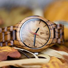 Looks like time pull those warm fall sweaters 😊 Shop this look https://treehut.co/collections/all-wooden-band-wood-watch/products/all-wood-watch-zebrawood-olive-ash?variant=8374962691