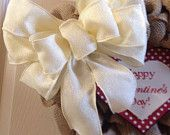 Wreath:  Interchanging burlap holiday wreath