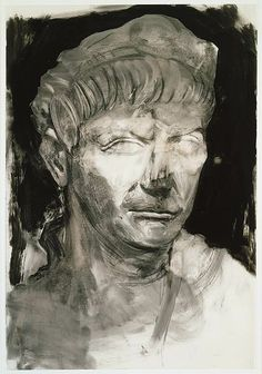 The Morgan Library Museum Online Exhibitions - Jim Dine: The Glyptotek Drawings Online Exhibition - Glyptotek Drawing 5 Art Postal, Jim Dine, Drawing Expressions, Morgan Library, Ink Wash, A Level Art, New York Art, Drawing Projects, India Ink