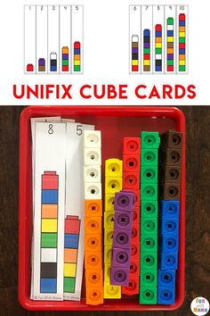 Unifix cube activities for preschool and kindergarten including free printable patterns for early math skills, interlinking cubes #preschoolmath #preschoolactivities #preschooler #math #unifixcubes