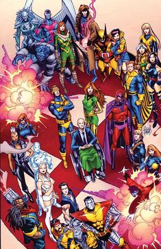 X-Men members past and present… Notable missing members include: Havok, Polaris, Rachel Summers-Grey, Lockheed, Cable, and Cannonball
