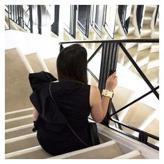 #tbt to chilling on the infamous 5th step at Coco Chanel's apartment in Paris. Coco used to perch on that step to watch reactions to her collections reflected in the mirrored staircase.  #styleblogxchanel #stylebloginparis by styleblogca