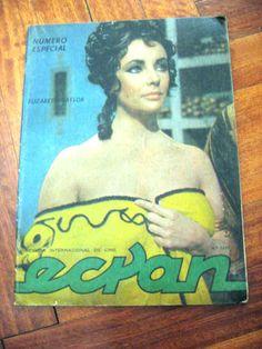ELIZABETH TAYLOR ON COVER MAGAZINE CHILE 1962 MARILYN MONROE JAMES DEAN