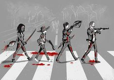 The Walking Dead  (Abbey Road Style)