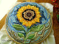 Michelle Palmer: Punch needle sunflower~