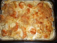 Gratin of cod with Breton cheese Baked Fennel, Cooking Recipes, Healthy Recipes, Fish Dishes, Shrimp Recipes, Food Videos, Macaroni And Cheese, Brunch, Food And Drink