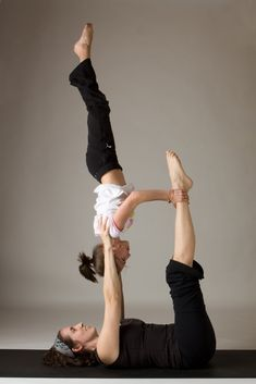 Did this pose at an acroyoga class. It was awesome!