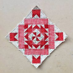 Block 49 - Nearly Insane Quilt red and cream