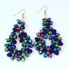 Crystal woven earrings by GshandmadeGoods on Etsy