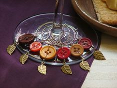 For falls feasts.. wine glass charms. Love them