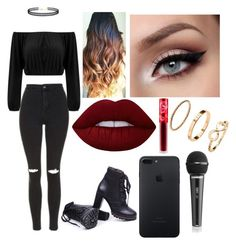 """""""Untitled #52"""" by denisebrione on Polyvore featuring Topshop, LULUS, Lime Crime and H&M"""