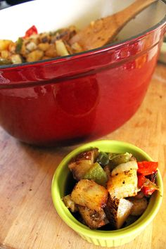 Roasted Herbs de Provence Breakfast Potatoes - By From the Little Yellow Kitchen