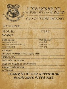 harry-potter-party thank yous from babble