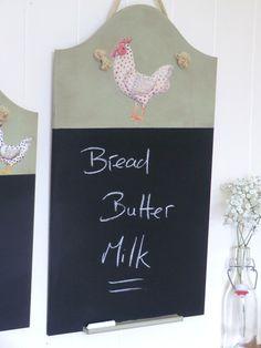Medium Handmade Spotty cockerel Chalkboard