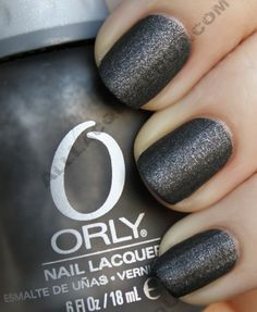 matte black polish with sparkle. Got this one today :)) Its Orly Iron butterfly