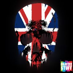"Check the latest design ""Union Jack Skull"". Available only on CrayzeeStuff Zazzle store."