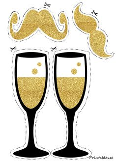 Photo booth props: Champagne and mustaches diy photo booth free printables Accessoires Photobooth, Diy Accessoires, Wedding Photo Booth Props, Party Props, Ideas Party, Party Hats, Photo Boots, Photobooth Props Printable, Christmas Photo Booth