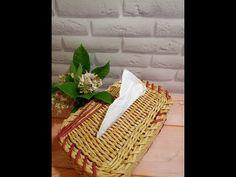 Удивительная Салфетница /из газетных трубочек - YouTube Craft Videos, Craft Tutorials, Basket, Picnic, Tela, Basket Weaving, Newspaper, Wicker Baskets, Sewing Patterns