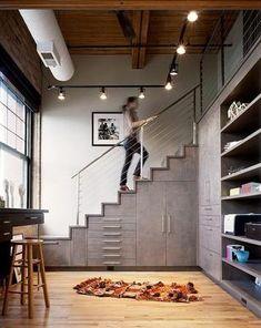 explotar el espacio bajo las escaleras