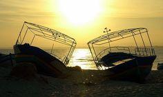 Pôr-do-sol na praia de Hammamet, em Nabeul, Tunísia.  Fotografia: Xavier Donat no Flickr.
