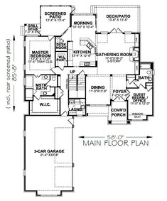 Darcie – Stephen Davis Home Designs Two Story House Plans, Lake House Plans, European House Plans, Dream House Plans, Maine, Pool House Designs, Porch Windows, Screened In Deck, Open Concept Floor Plans