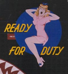Image detail for -... for the cover of the book vintage aircraft nose art ready for duty