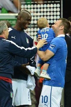 Balotelli con Cassano